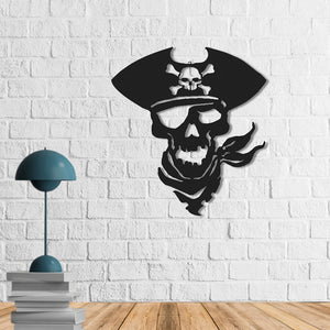 Pirate Figure Metal Wall Art | Pirate Metal Wall Decor | Metal Wall Hanging - Hencely