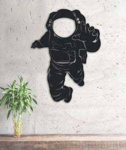 The Astronaut | Metal Wall Art | Metal Wall Decor | Metal Space Wall Poster - Hencely