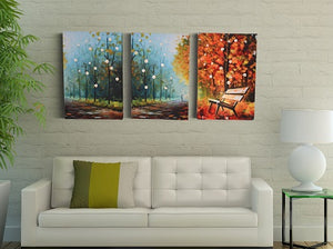 Autumn Gloom | Canvas Painting Decor | Canvas Wall Art Set | Fall Art Deco Painting - Hencely