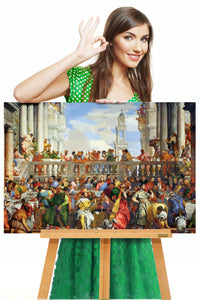 The Wedding At Cana by Paolo Veronese | Veronese Art Reproduction | Canvas Wall Decor - Hencely