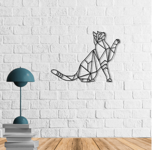 The Cat | Metal Wall Art | The Kitten Metal Wall Decor | Contemporary Wall Hanging - Hencely