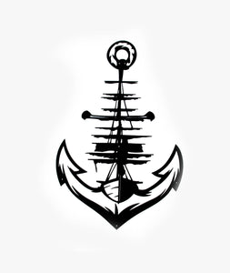 Anchor Design Metal Arte de pared | Tapiz negro - Por lo tanto