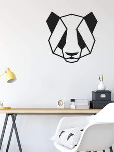 The Panda | Metal Wall Decor | Contemporary Metal Wall Art - Hencely