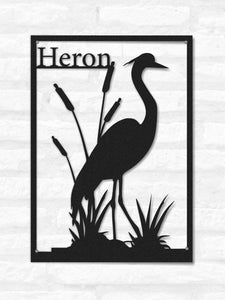 Heron Metal Wall Art, Flamingo Metal Wall Decor, - Hencely