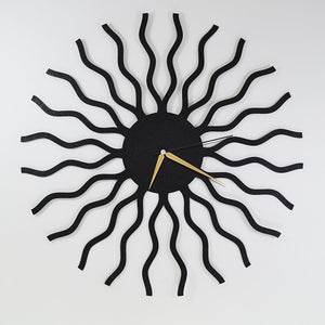 The Wavy | Abstract Wall Clock | Contemporary Hanging Clock - Hencely