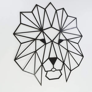 The Lion Metal Wall Art - Por lo tanto