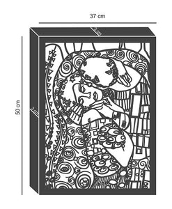 """Gustav Klimt-The Kiss"" Art Reproduction Metal Wall Art & Wall Hanging - Hencely"