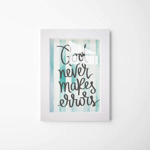 """God Never Makes Errors"" Canvas Framed Poster & Canvas Framed Artwork - Hencely"