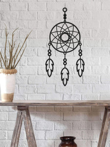 Dreamcatcher Metal Wall Art Decoración de pared de metal para dormitorio - Por lo tanto