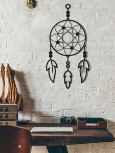 Dreamcatcher Metal Wall Hanging | Contemporary Wall Art - Hencely