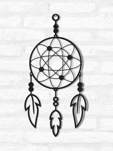 Dreamcatcher Metal Wall Hanging Art mural contemporain - Hencely