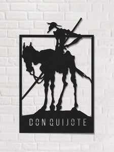 Donquijote Panel decorativo de pared de metal Art Deco Wall Art - Por lo tanto