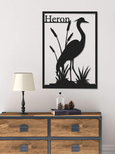 Heron Flamingo Tropical Metal Decoración de pared - Por lo tanto