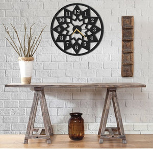 The Lotus | Floral Wall Clock | Round Hanging Clock - Hencely