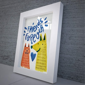 """Friends Forever"" Canvas Framed Artwork & Contemporary Canvas Home Decor - Hencely"