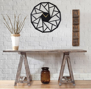 The Triangles | Metal Wall Clock | Decorative Hanging Clock - Hencely