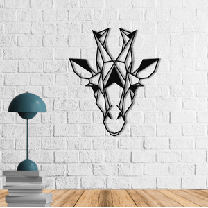 Giraffe Head | Metal Wall Art | Contemporary Wall Decor | Giraffe Metal Wall Hanging - Hencely