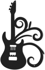The Magical Guitar Metal Wall Hanging & Musician's Metal Wall Decor - Hencely
