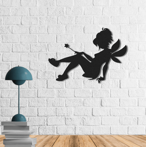 Little Fairy | Metal Wall Art | Figurative Metal Wall Decor | Magic Metal Wall Hanging - Hencely