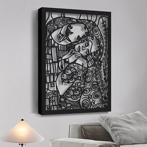 Gustav Klimt's The Kiss | Art Reproduction | Metal Wall Art | Wall Hanging - Hencely