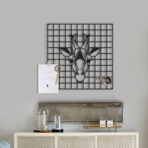 """The Giraffe"" Metal Grid Wall Panel & Decorative Pegboard - Hencely"