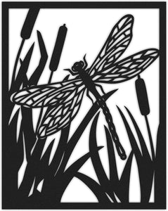 Butterfly Metal Wall Art Panel & Botanical Metal Wall Hanging - Hencely