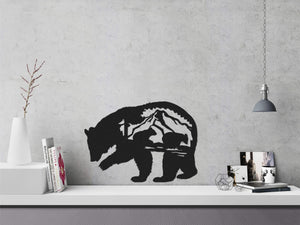 Mama Bear Metal Wall Decor & Black Bear Wall Art - Hencely