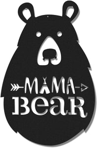 Mama Bear  Black Wall Decor - Hencely
