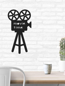 Movie Time | Metal Wall Art For Livingroom | Contemporary Metal Wall Hanging - Hencely