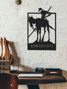 Donquijote | Panel decorativo de pared de metal | Art Deco Wall Art - Por lo tanto