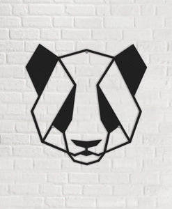 Panda Metal Wall Art & Panda Design Wall Decor - Hencely