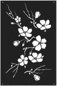 Flowers Metal Wall Art Panel - Hencely