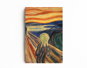 Scream by Edward Munch | Edward Munch Fine Art Reproduction | Canvas Art Deco Painting - Hencely