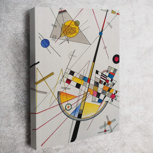 التوتر الدقيق بواسطة Wassily Kandinsky Canvas Wall Art - Hencely