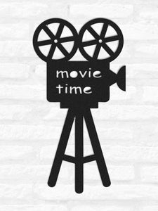 Movie time Metal Wall Hanging - Hencely