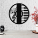 The Music  Round Metal Wall Clock Decorative Hanging Clock - Hencely