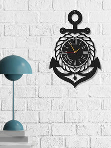 Anchor Nautical  Metal Wall Clock - Hencely