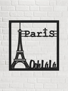 Paris, O La La  Eiffel Tower Metal Wall Decor - Hencely
