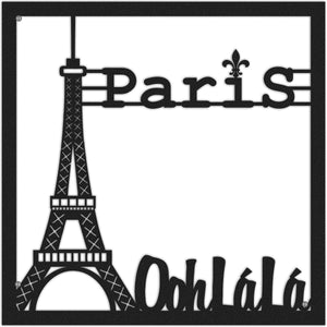 Paris, O La La Eiffel Tower Black Metal Wall Hanging - Hencely