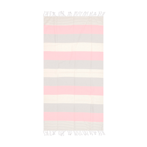 Striped Beach Towel Pink - Peshtemal Light Turkish Towel - Hencely