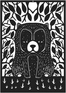 Racoon Art Deco Metal Wall Art & Bohemian Design Wall Panel - Hencely