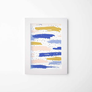 Colorful Brush Marks | Framed Glass Art | Canvas Wall Decor - Hencely