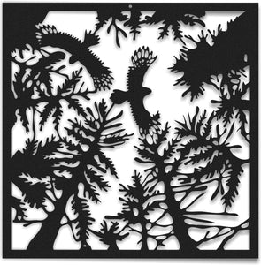 Forest Metal Wall Art  Woods Metal Wall Panel - Hencely