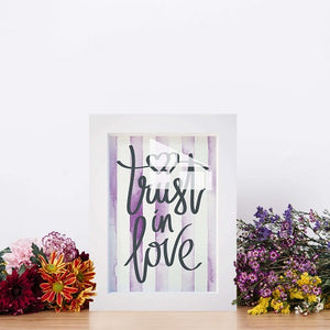 """Trust in Love"" Framed Canvas Art & Canvas Framed Picture Poster - Hencely"