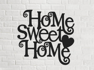 Home Sweet Home Metal Wall Decor - Hencely