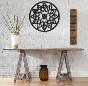 Botanical Round Metal Wall Clock - Hencely