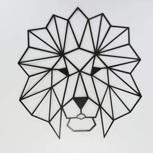 The Lion Metal Wall Decor - Por lo tanto,