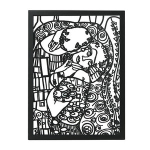 Gustav Klimt's The Kiss  Art Reproduction  Metal Wall Art  Wall Hanging - Hencely