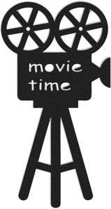 Movie Time  Metal Wall Art For Livingroom  - Hencely