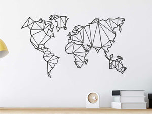 Metal World Map | Modern World Map XXL | Wall Hanging Decor | Free Worldwide Express Shipping - Hencely